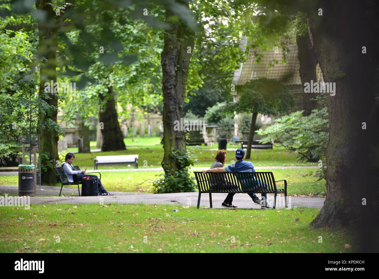 St Pancras Gardens, London - Stock Image