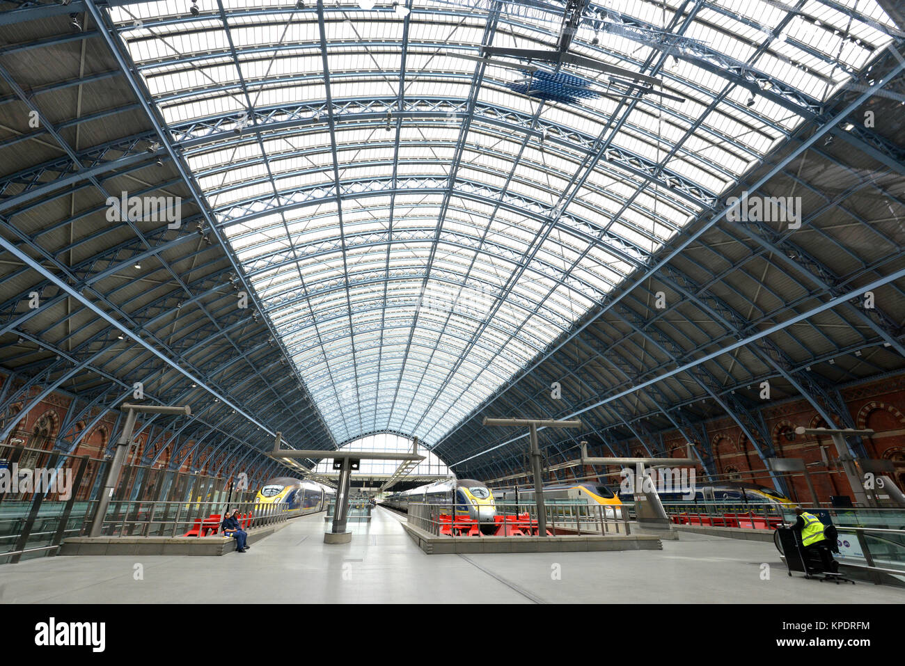 St Pancras Station, London. - Stock Image