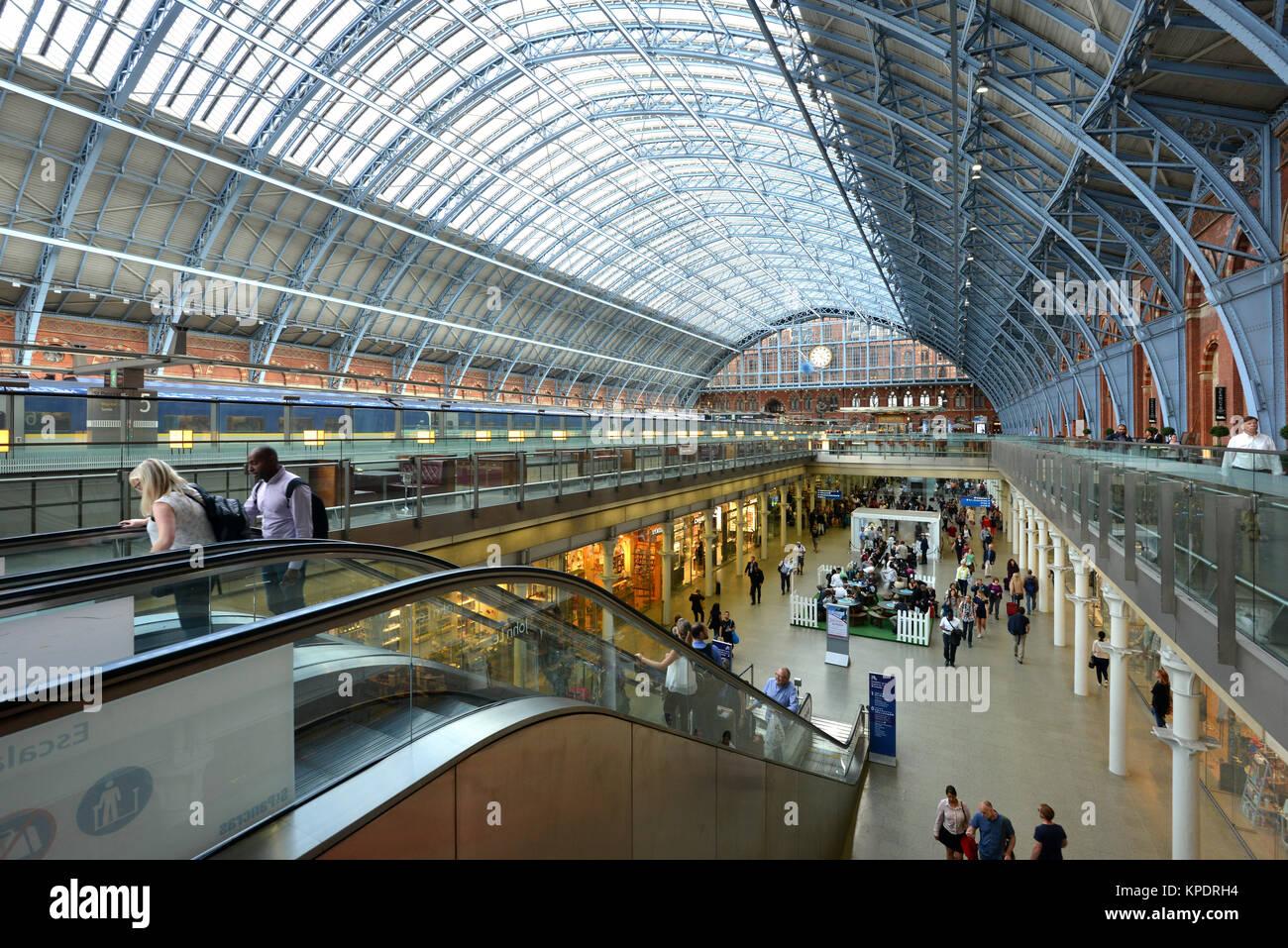 St Pancras Station, London. - Stock Image