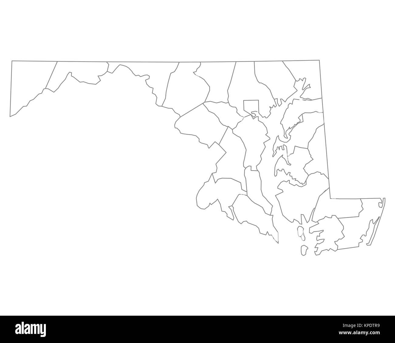 Map Maryland Usa Federal State Stock Photos & Map Maryland Usa ...