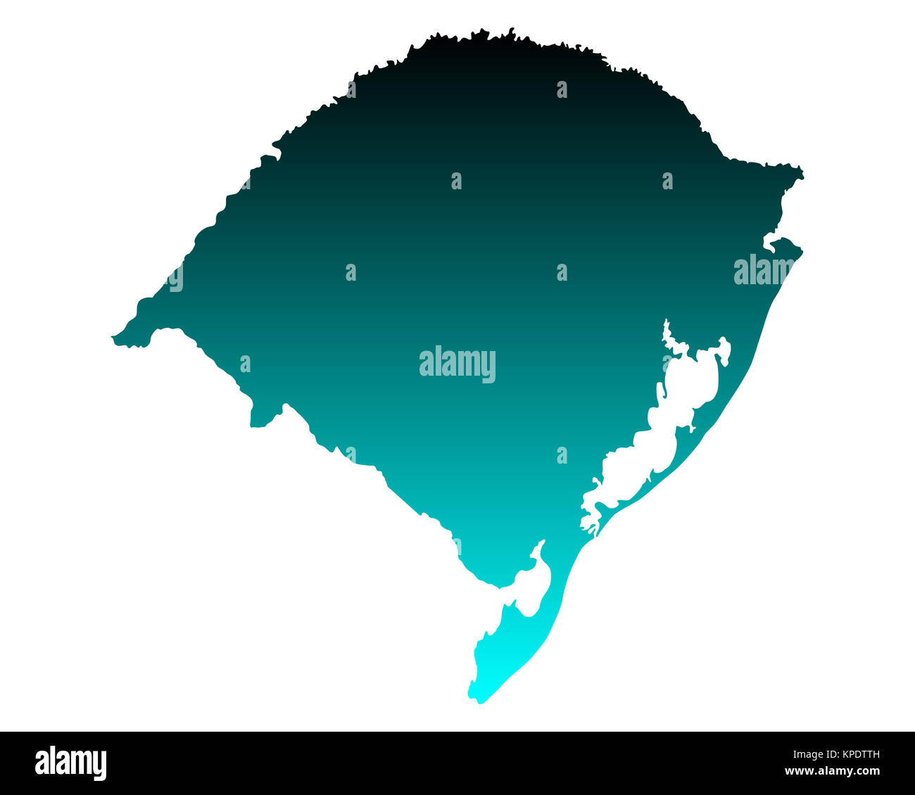 map of rio grande do sul Stock Photo