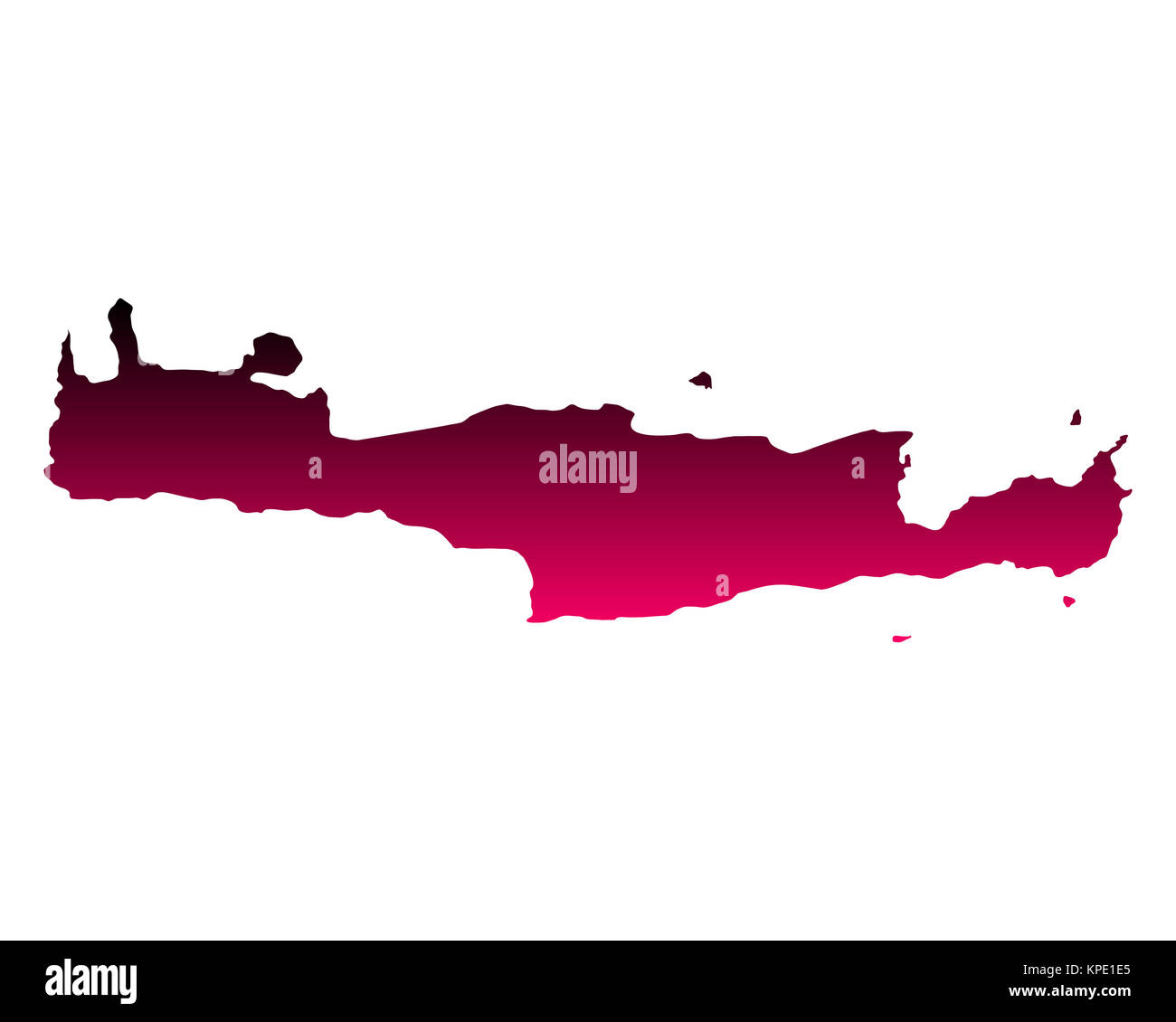 Karte von Kreta - Stock Image