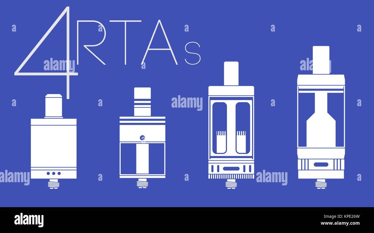 4 RTAs set - Stock Image