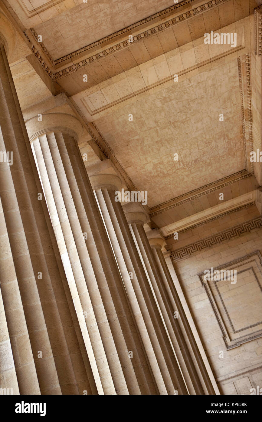 Details of Bordeaux courthouse - Stock Image
