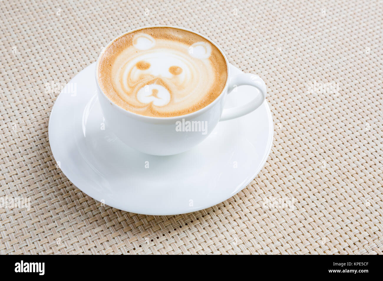 Coffee latte art - Stock Image