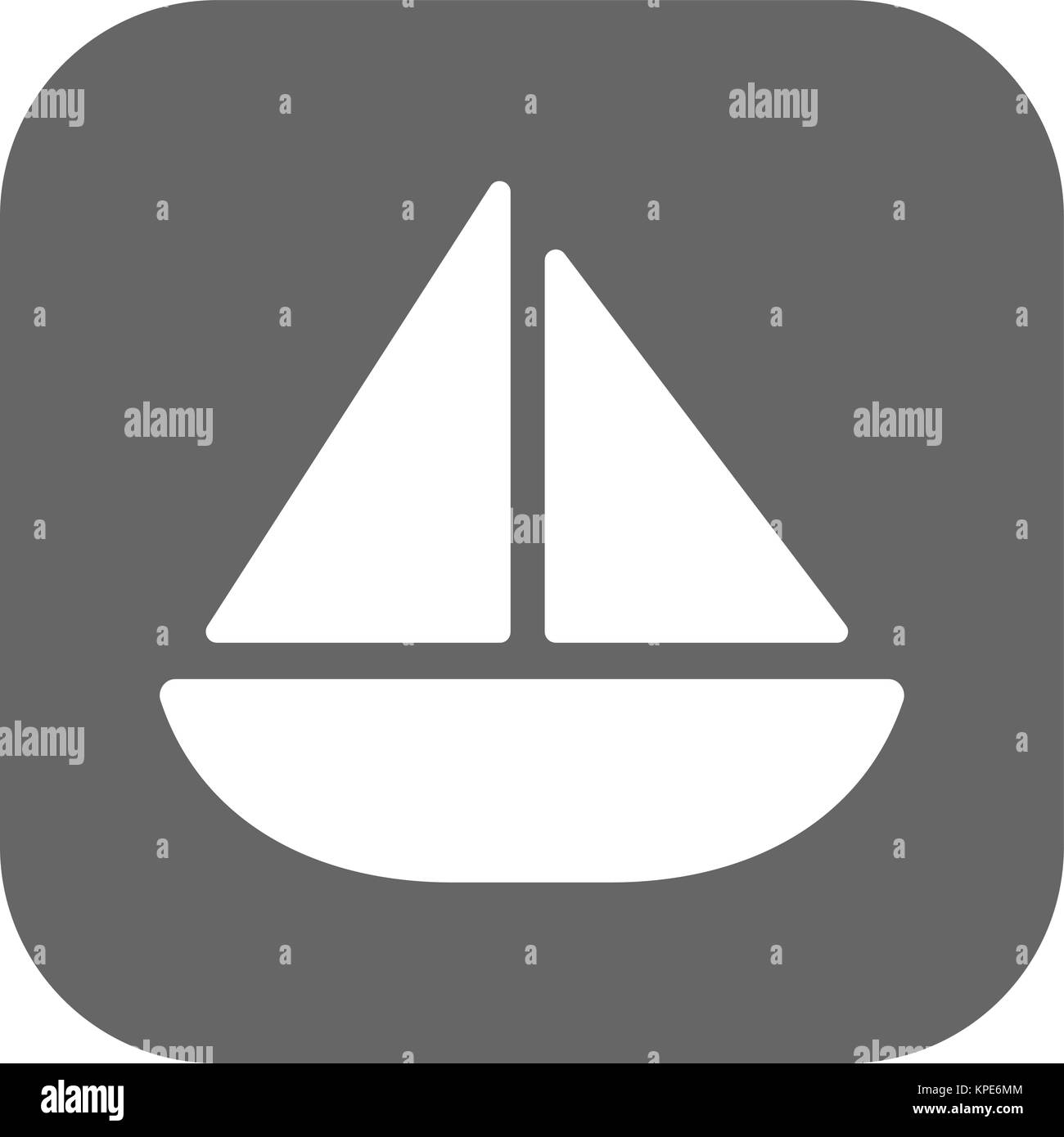 Sailing yacht flat icon with - Stock Vector