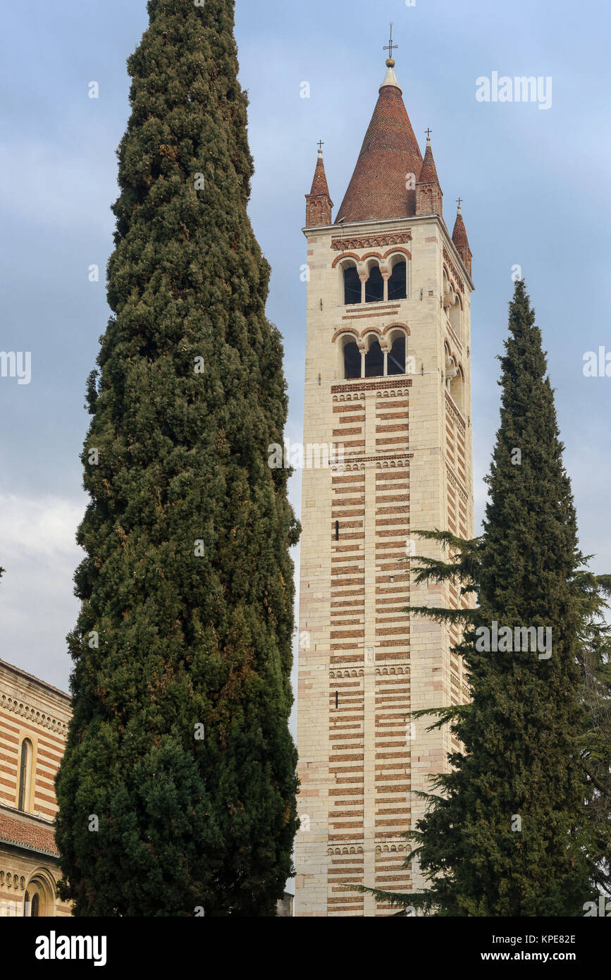 Clocktower of San Zeno - Stock Image