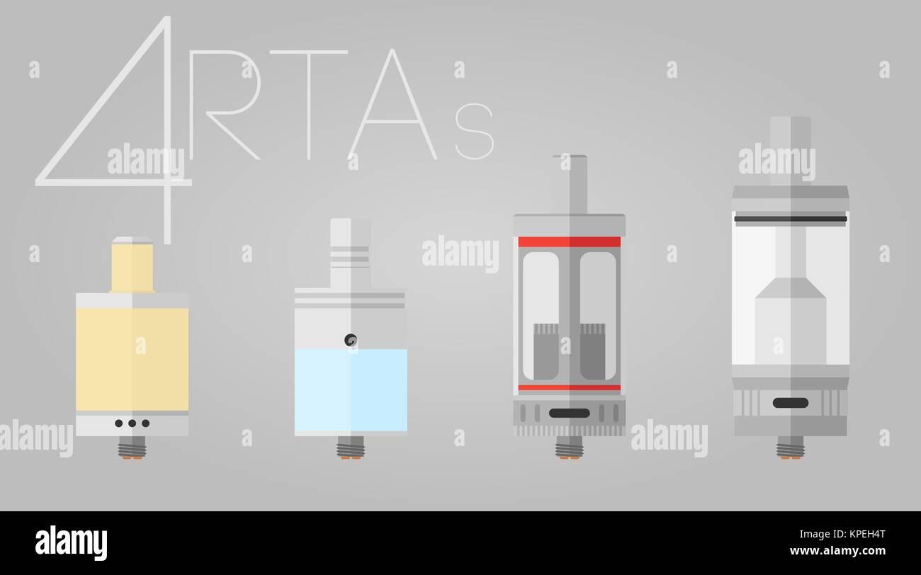 4 RTAs colored set - Stock Image