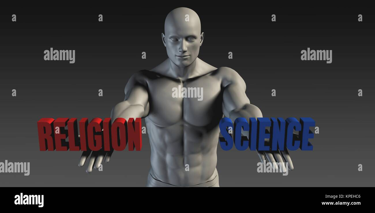 Religion or Science - Stock Image