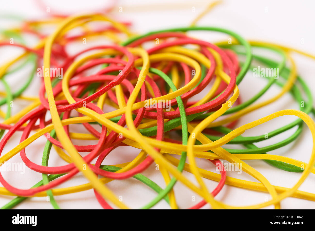 rubber rings - Stock Image
