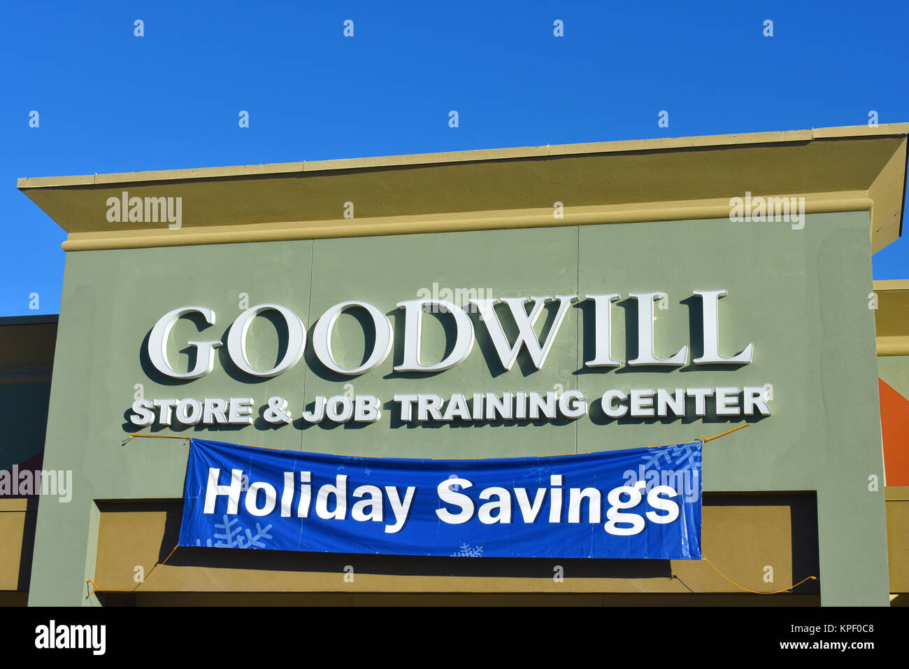 Good Will store and job training center in Bellingham, WA, USA. - Stock Image