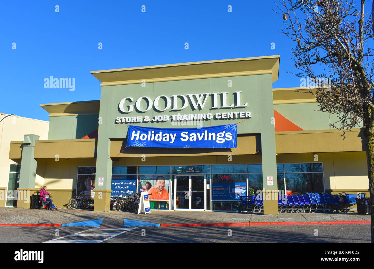Goodwill store and job training center in Bellingham, WA, USA. - Stock Image