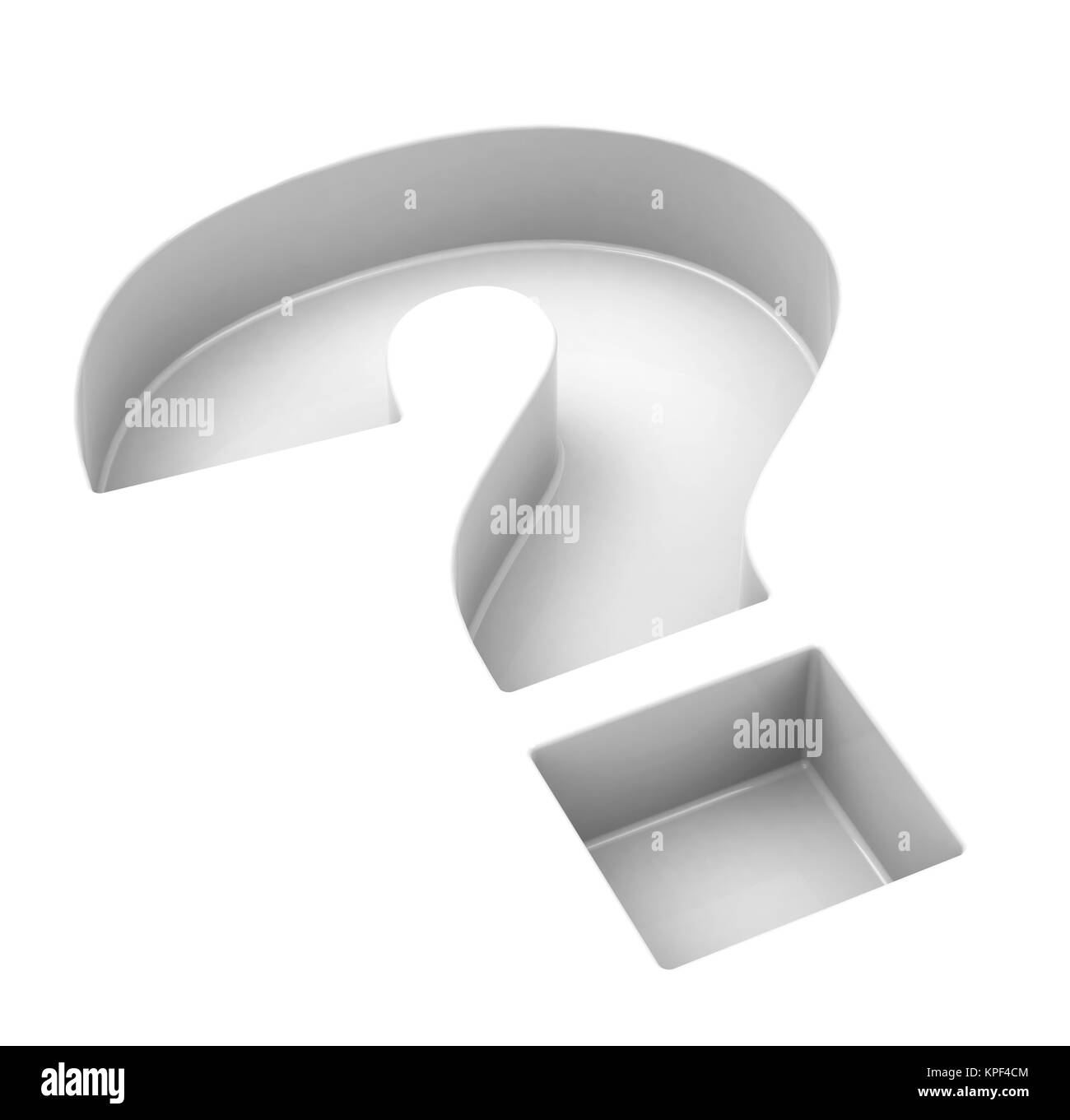 question mark - Stock Image