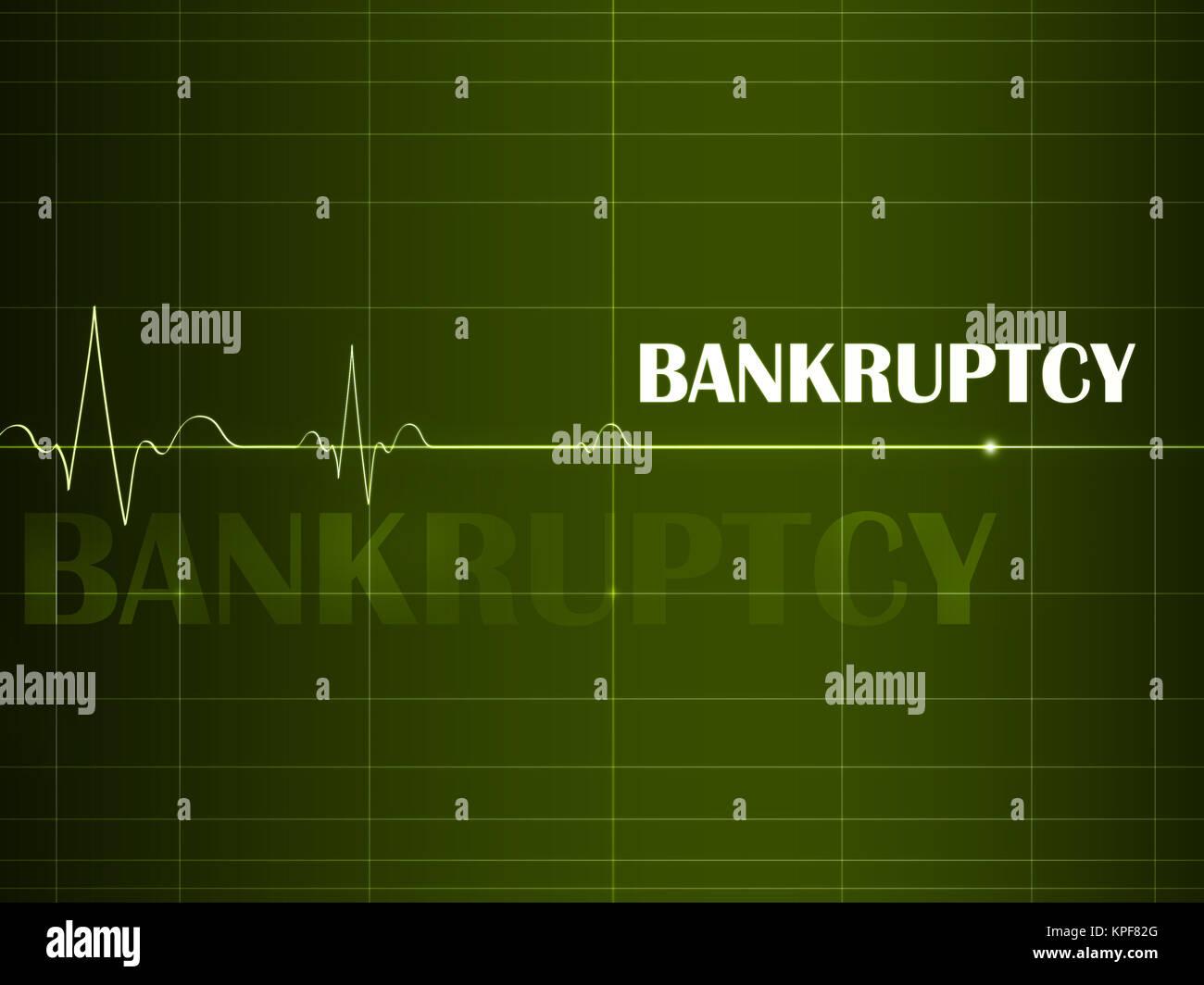 Business artwork - Bankruptcy. Financial Concept. 2D Design. Stock Photo