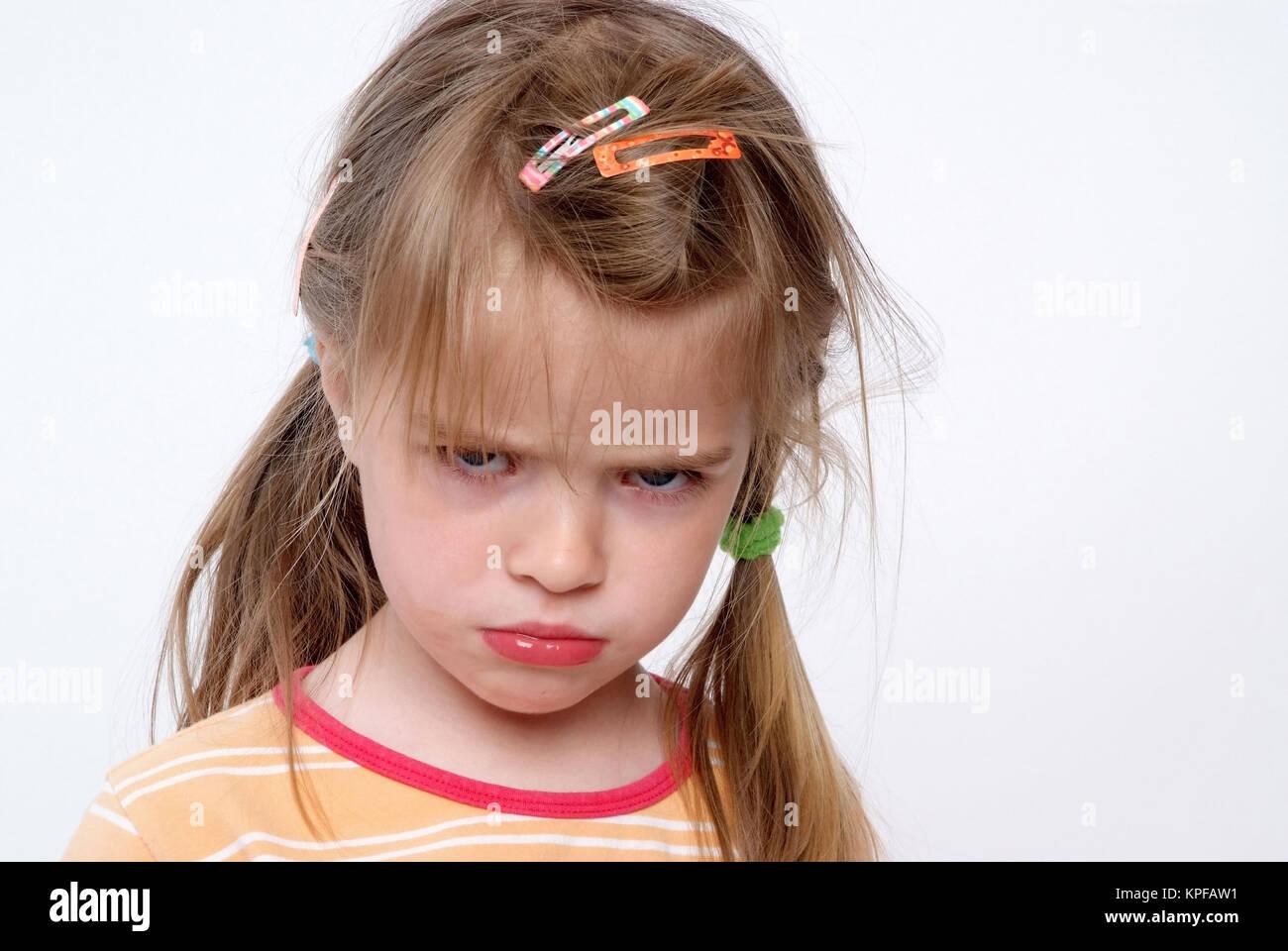 Kleines Maedchen, 3 Jahre - little girl, three years old Stock Photo