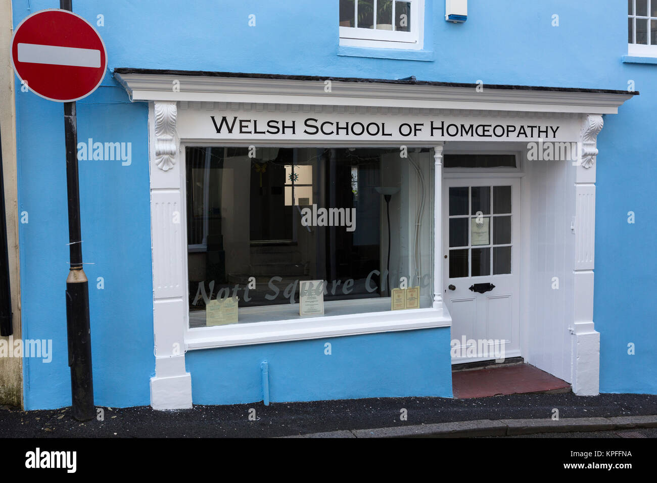 Welsh School of Homeopathy building in Carmarthen, providing alternative healing - Stock Image