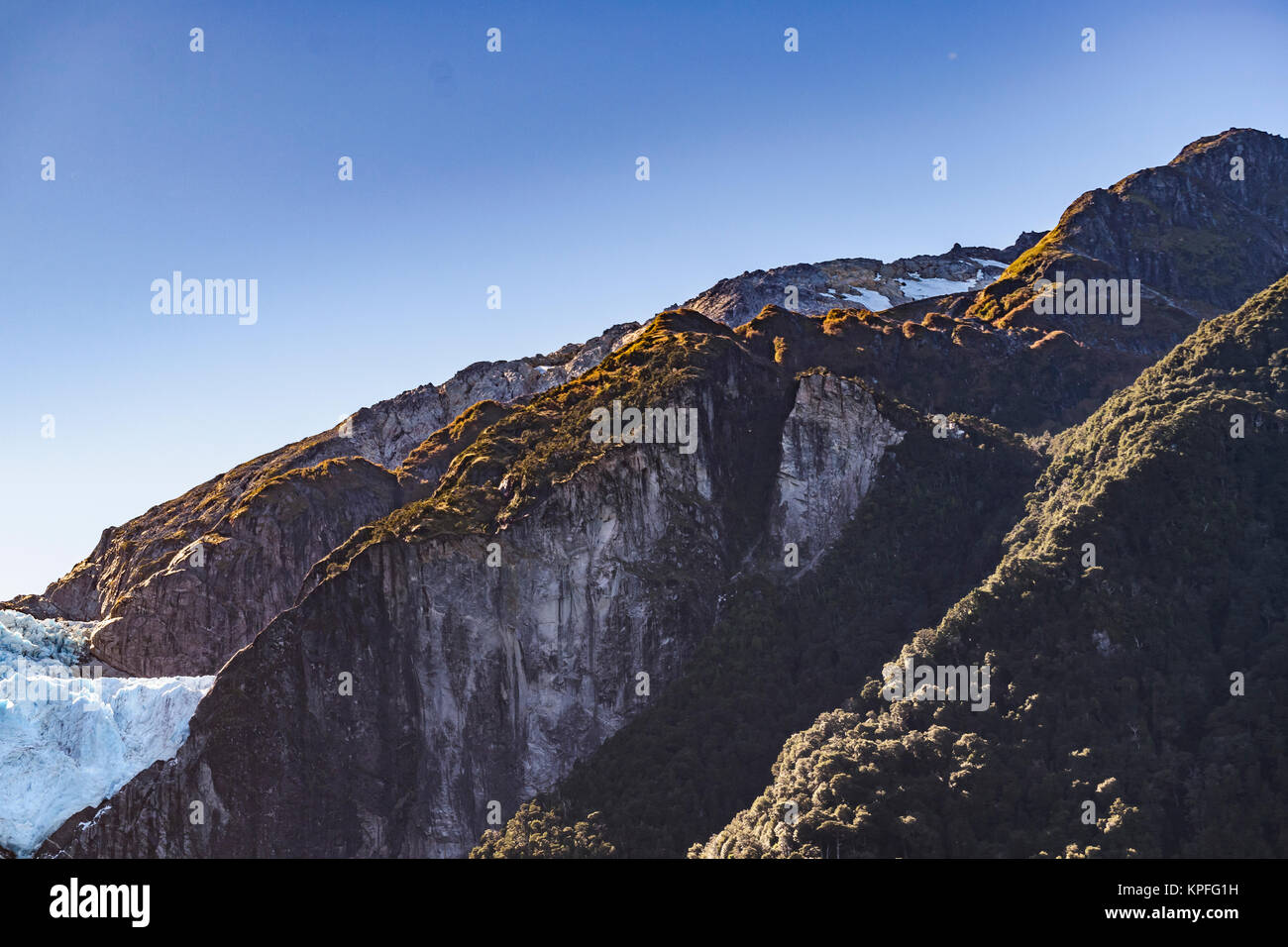 Queulat mountain with glacier at top at queulat national park, Aysen, Chile - Stock Image