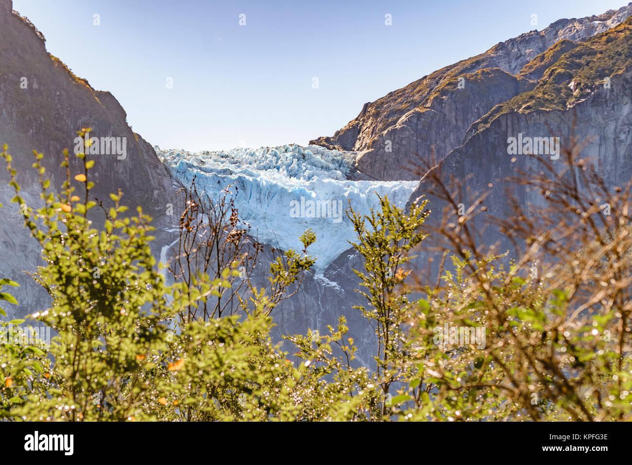 Queulat mountain with glacier at top at queulat national park, Aysen, Chile - Stock Image
