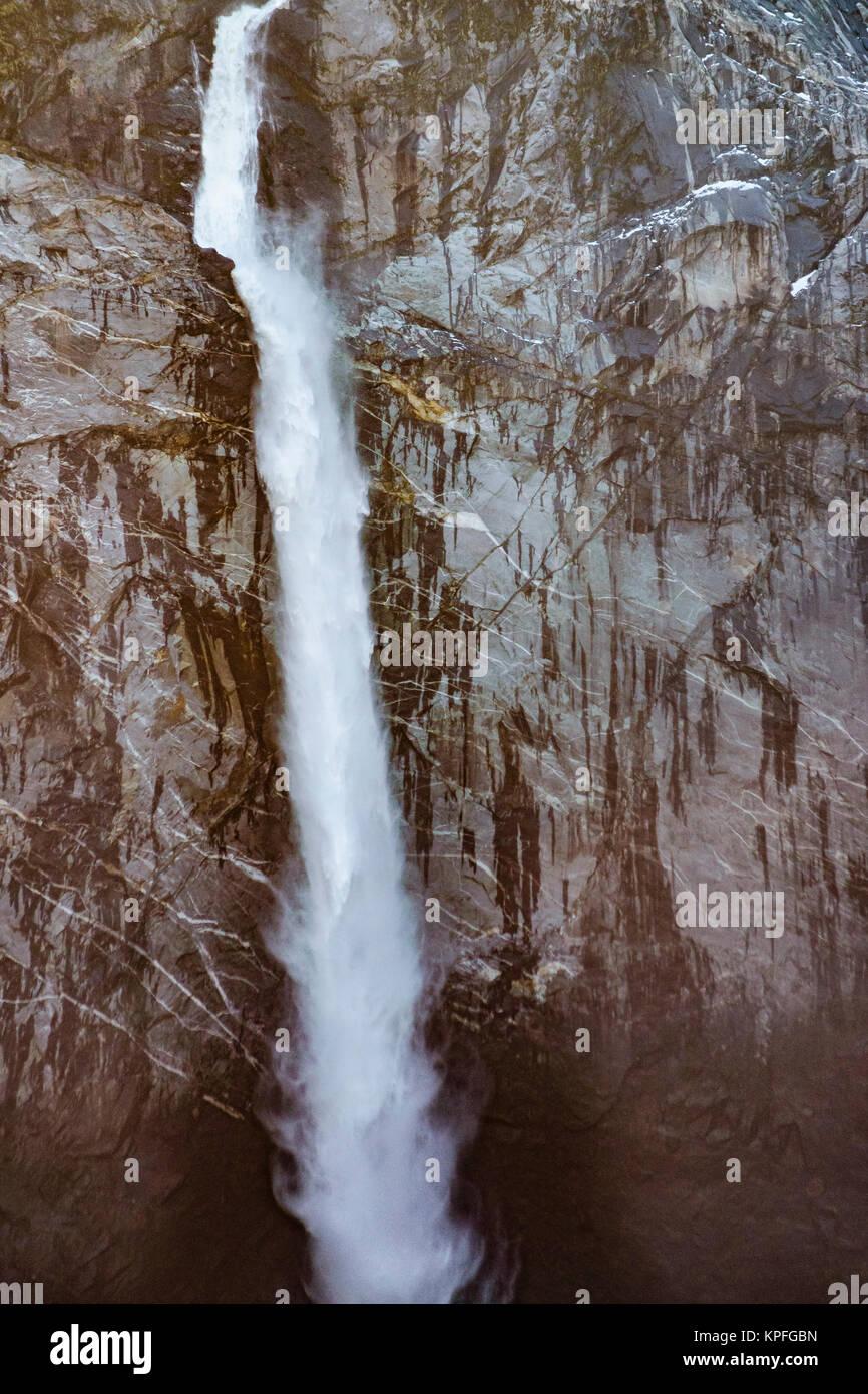 Cascade of queulat mountain at queulat national park - Stock Image