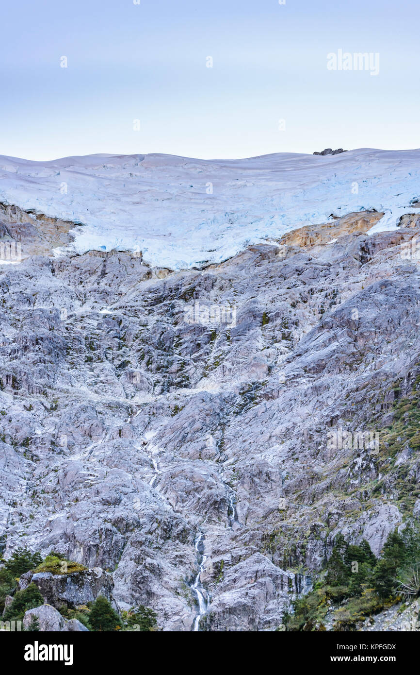 Patagonia landscape scene at queulat national park, aysen, chile - Stock Image