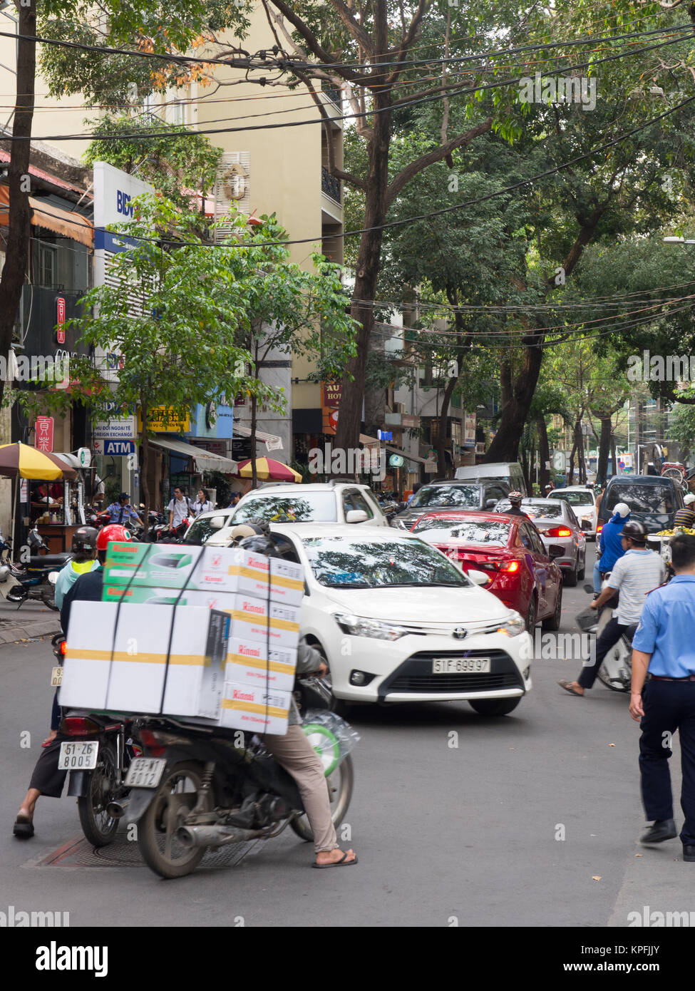 Busy Street In Ho Chi Minh City - Stock Image