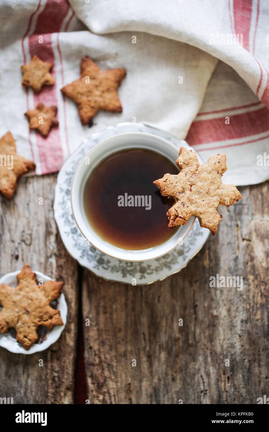 Snowflake cookies - Stock Image
