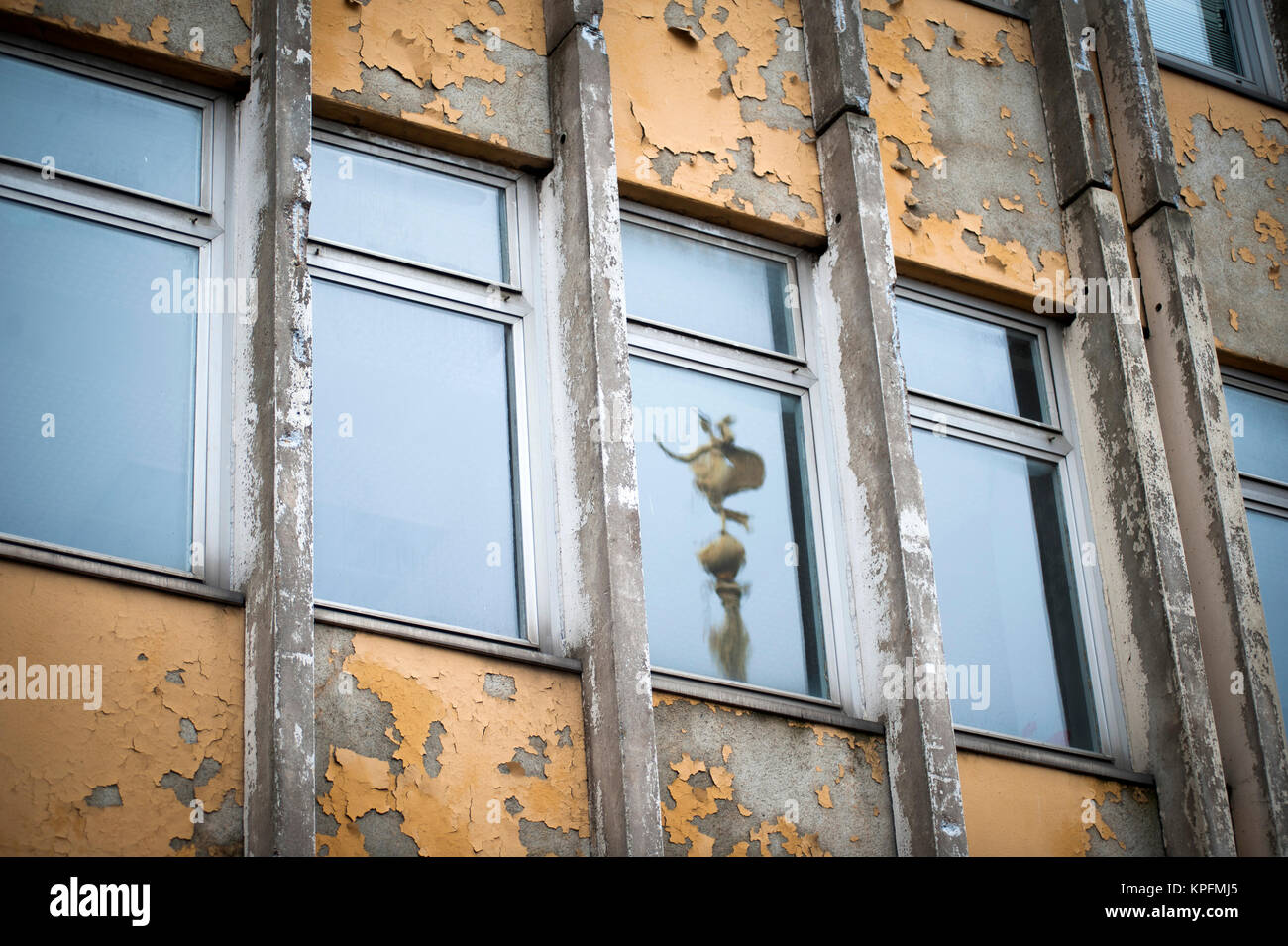 Flats due for demolition at the Am Alter Markt in Potsdam, Germany. - Stock Image