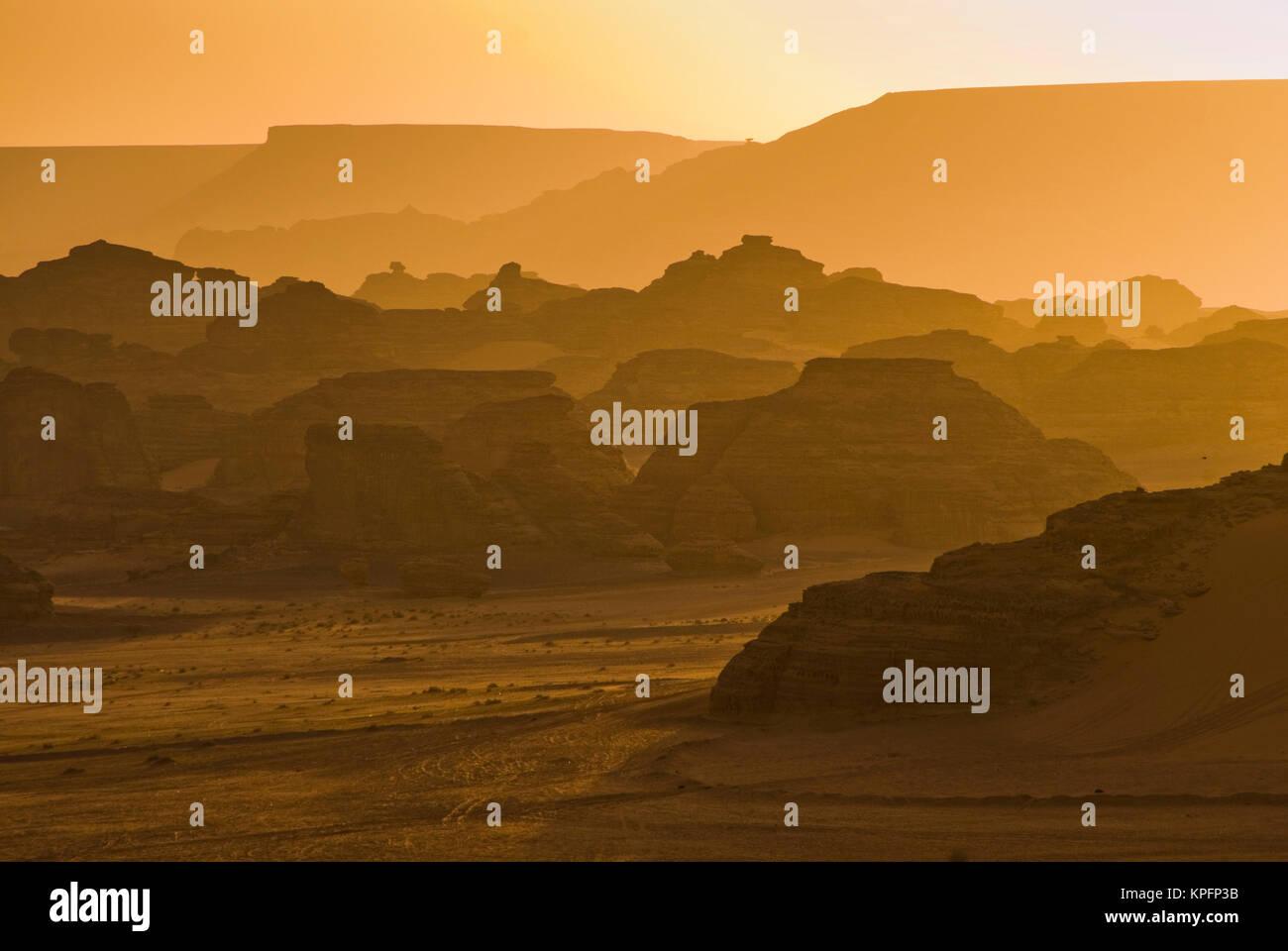 Saudi Arabia, Al Ula, desert near the oasis - Stock Image
