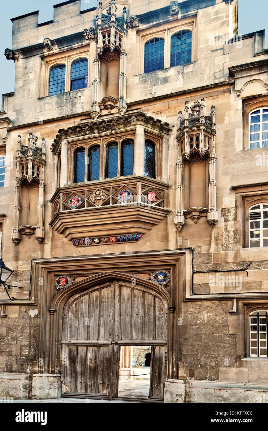 UK Oxford Corpus Christi College Gateway - Stock Image