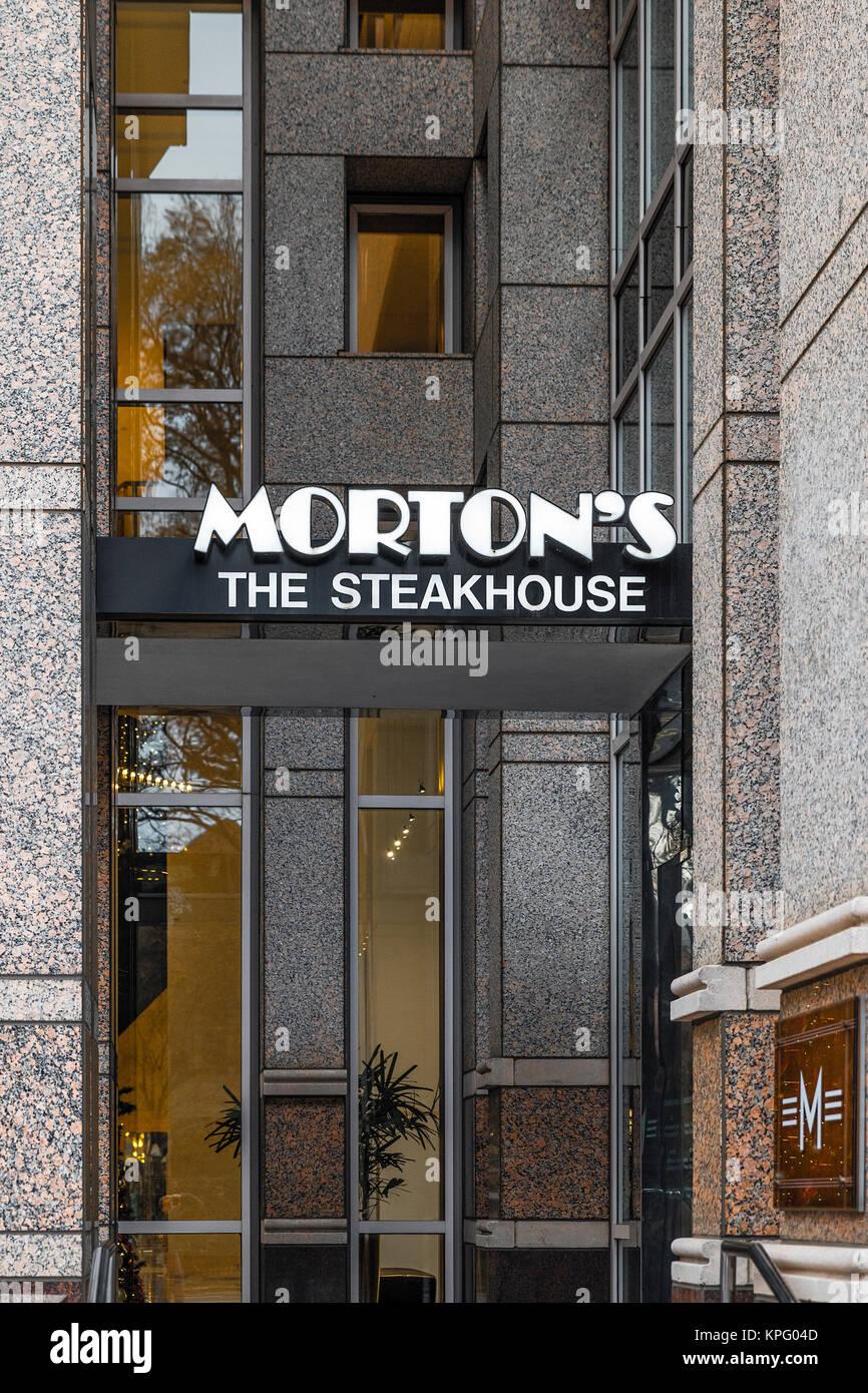 Morton's SteakHouse, Charlotte, North Carolina, USA. Stock Photo