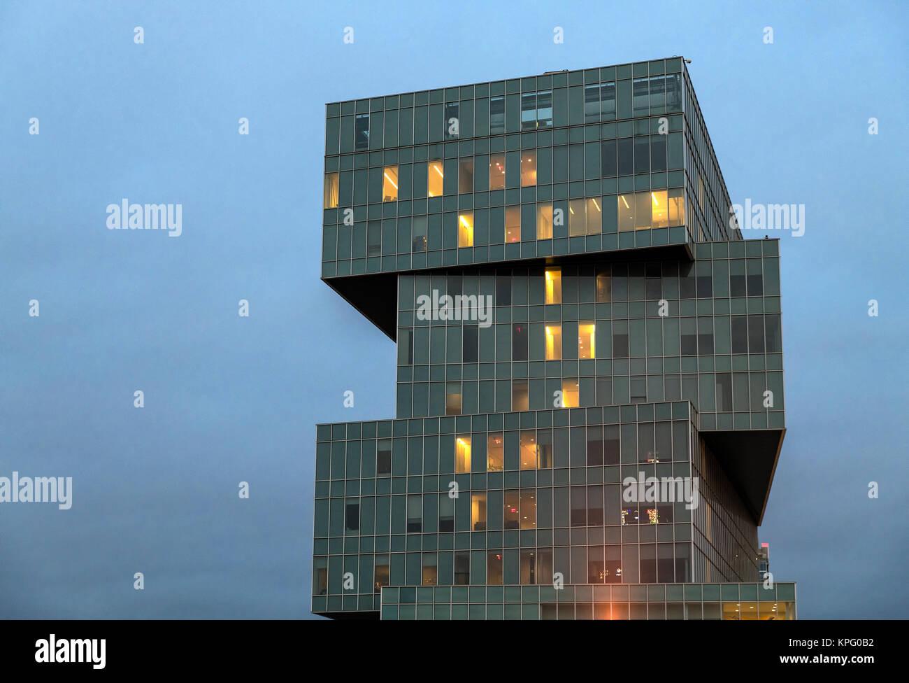 University of North Carolina, Center City Classroom Building, Charlotte, North Carolina, USA. - Stock Image