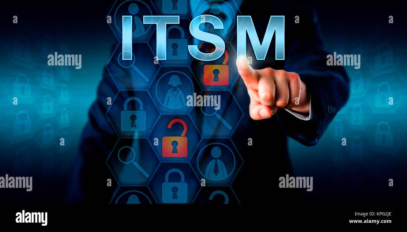 Business Customer Pressing ITSM - Stock Image