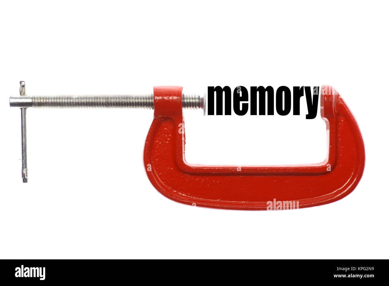 Compressed memory concept - Stock Image