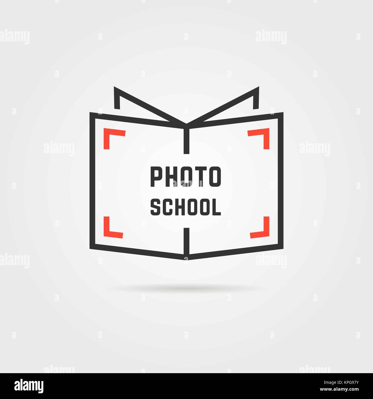 photo school logo with shadow - Stock Image