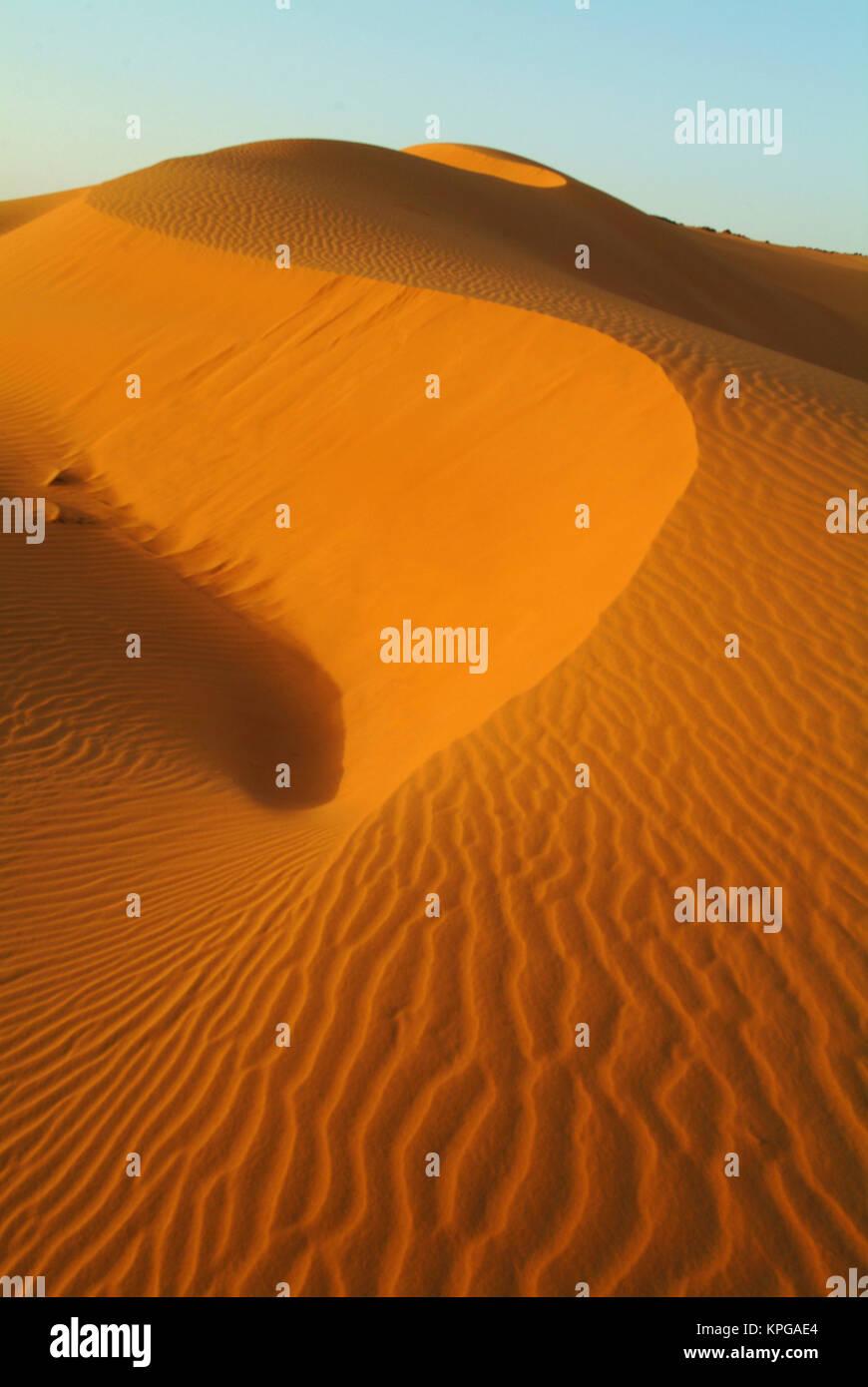 Sudan, North (Nubia), dunes in the desert - Stock Image