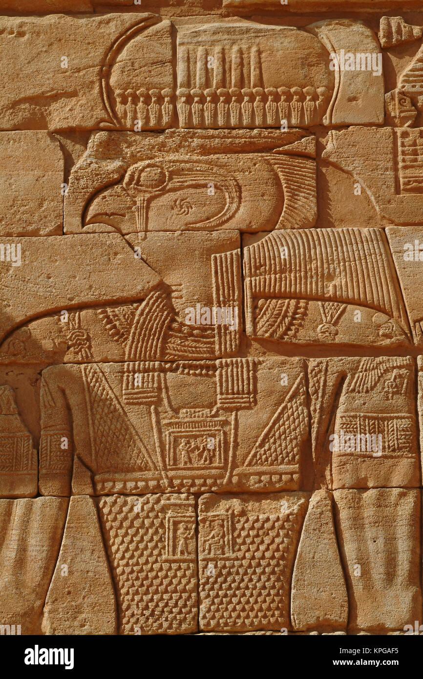 Sudan, North (Nubia), Kom Ombo Temple, Horus - Stock Image