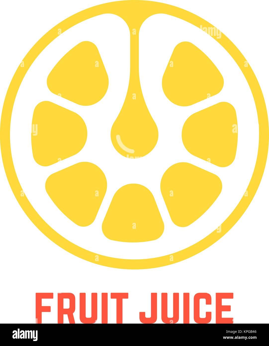 simple yellow fruit juice logo Stock Vector Art
