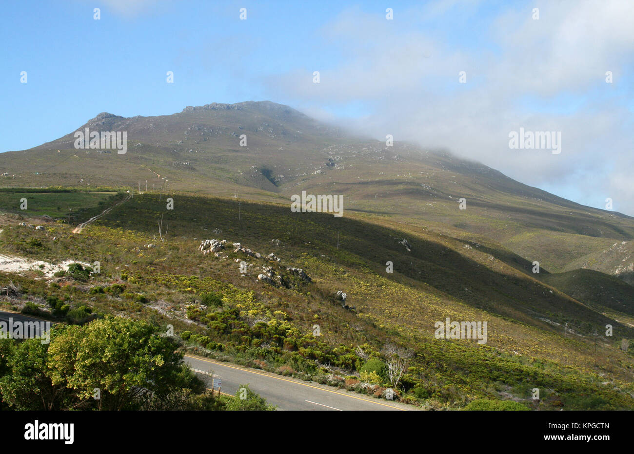 Scenic view of the countryside, Hermanus, South Africa - Stock Image