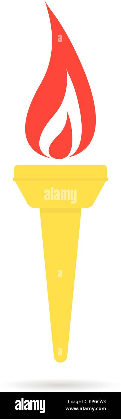 color olympic flame icon - Stock Vector