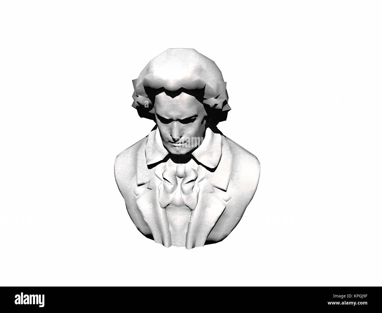exempted beethoven bust - Stock Image