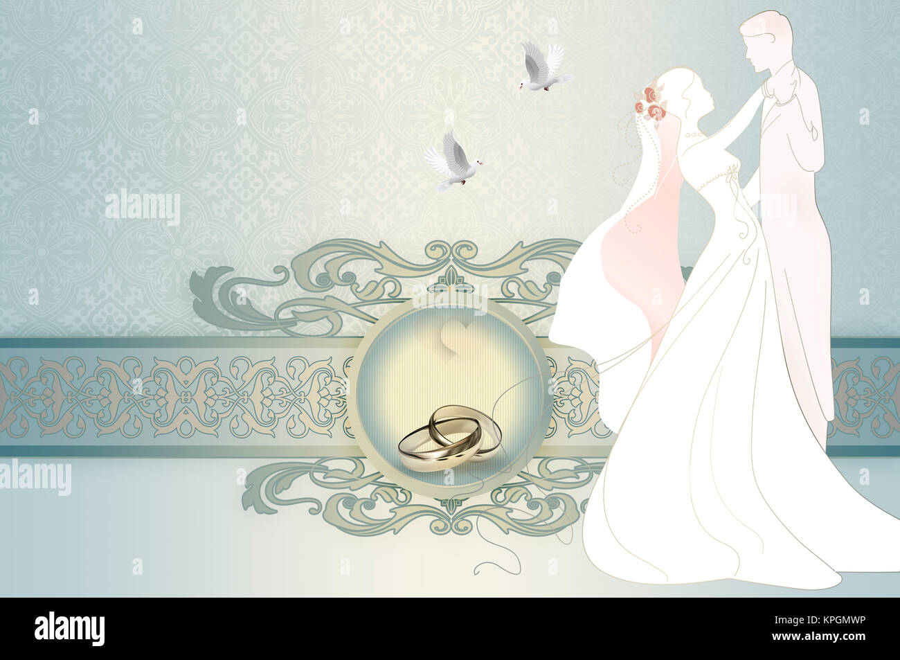 decorative and elegant wedding background with decorative border and stock photo alamy https www alamy com stock image decorative and elegant wedding background with decorative border and 168783378 html