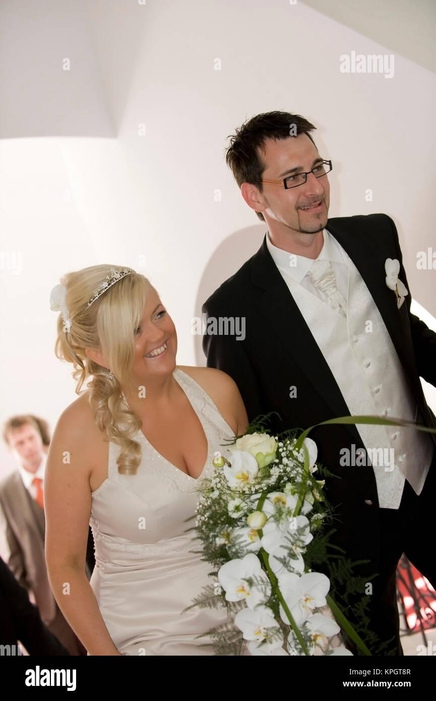 Model released , Brautpaar - bridal couple - Stock Image