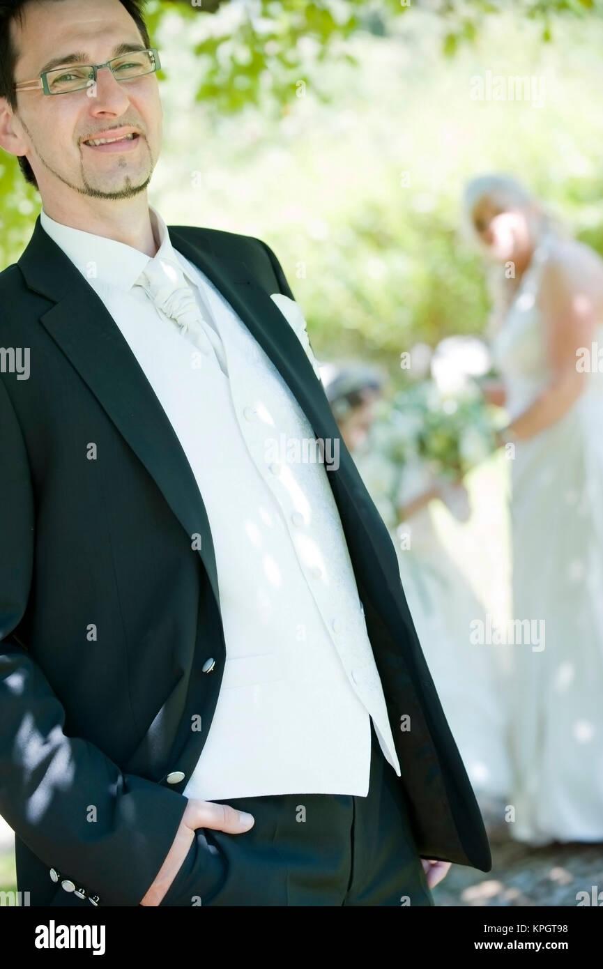 Model released , Hochzeitsfoto - wedding photo - Stock Image