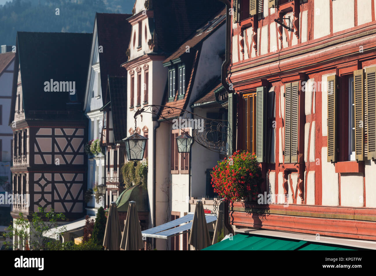 Germany, Baden-Wurttemburg, Black Forest, Gengenbach, town buildings Stock Photo