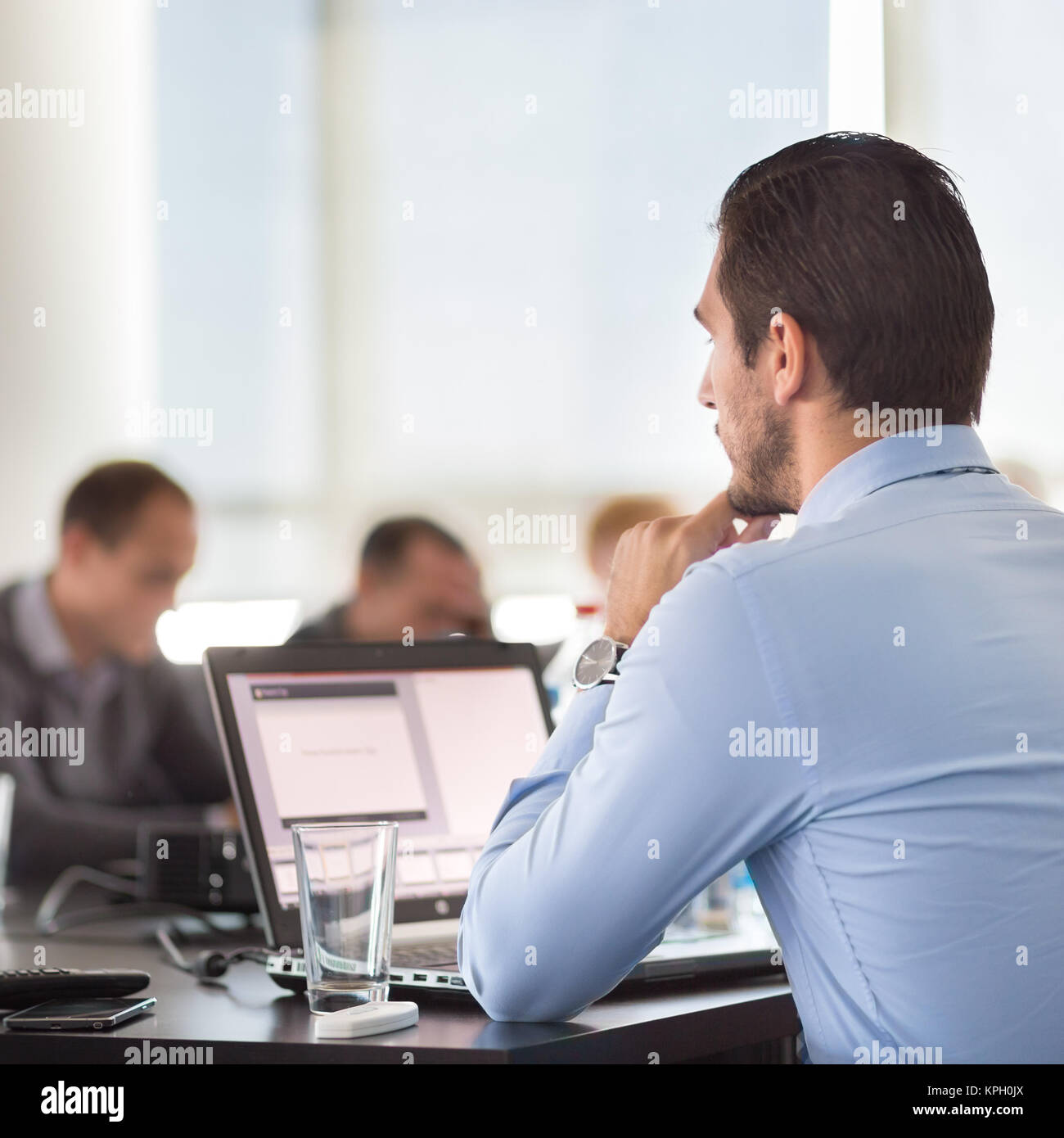 Corporate business meeting. - Stock Image