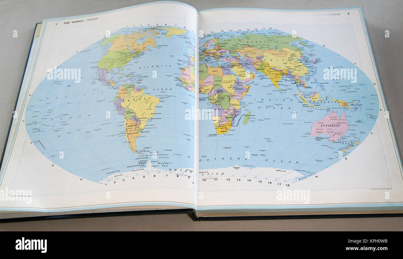 World atlas book stock photos world atlas book stock images alamy concise world atlas page2 and 3 the whole world south africa stock gumiabroncs Choice Image