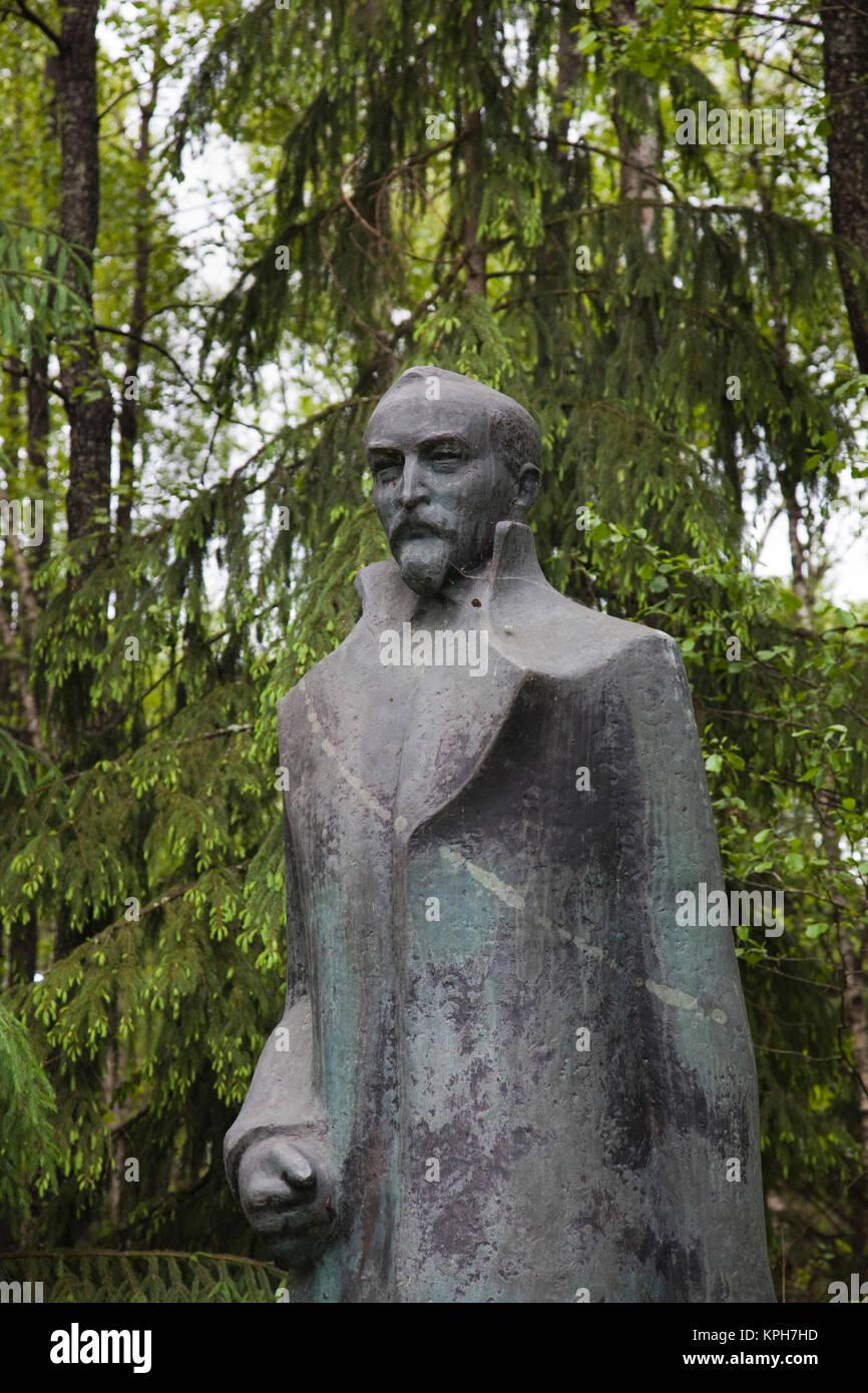 Lithuania, Southern Lithuania, Grutas, Grutas Park, sculpture park of former Communist-era sculptures, statue of - Stock Image