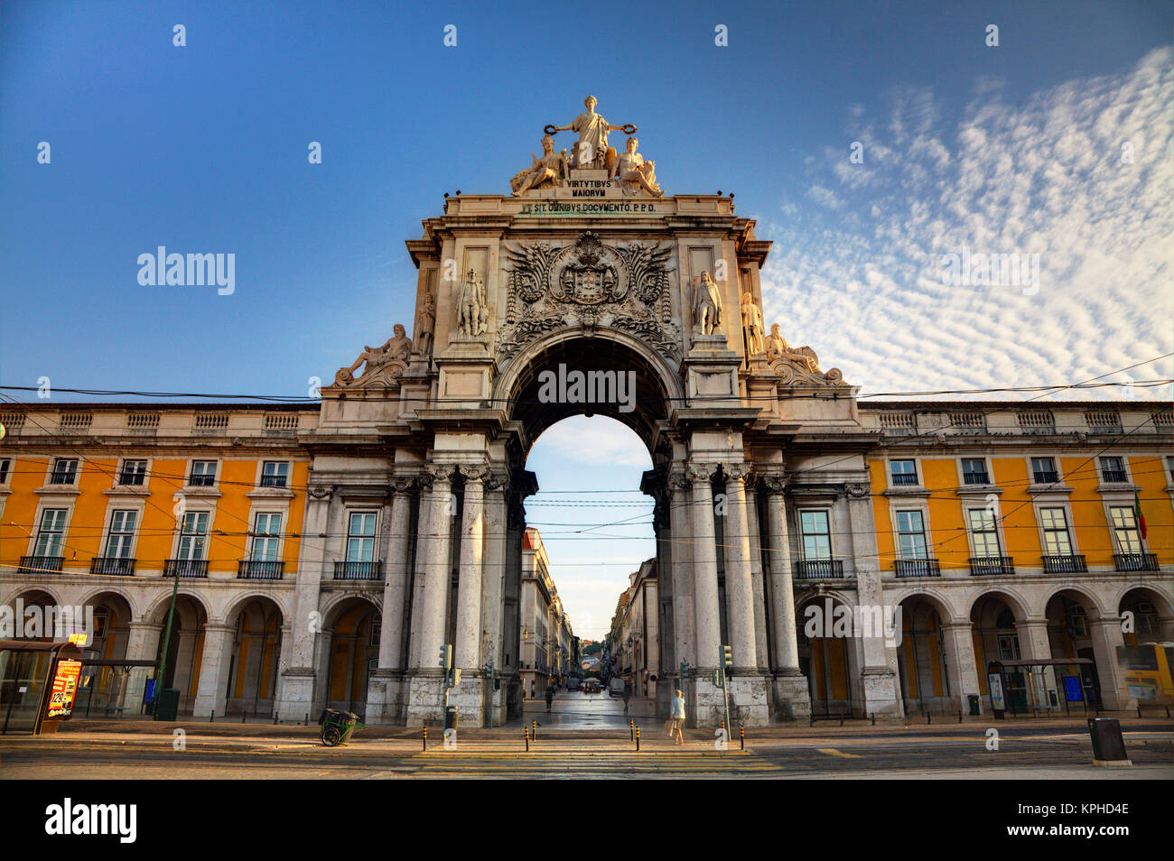 Portugal Lisbon Rua Augusta Square Surrounded By Government Stock Photo Alamy