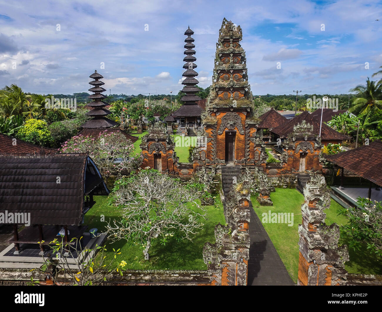 Very old and historical Hindu temple in Bali. The temple is called Pura Puseh Bedha which highly related with the - Stock Image