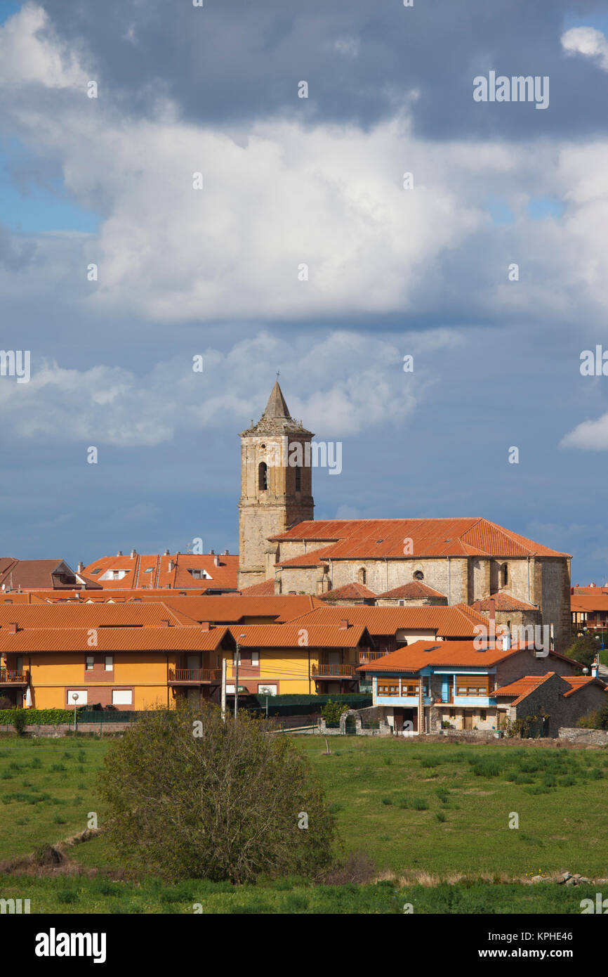 Spain, Cantabria Region, Cantabria Province, Bareyo, town view Stock Photo
